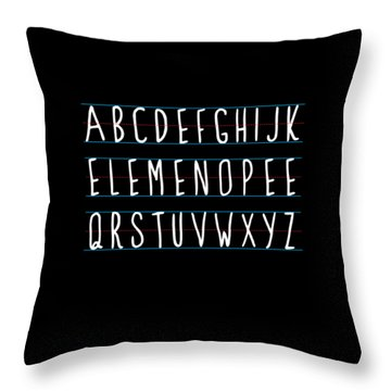 Alphabet Elemeno Throw Pillow