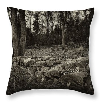 Alpine Benders Cemetery Throw Pillow
