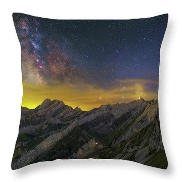 Alpstein Nights Throw Pillow