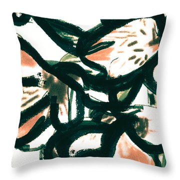 Alstroemerias Throw Pillow