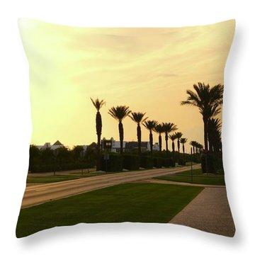 Alys Beach Sunset Throw Pillow