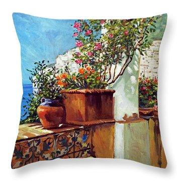 Amalfi Coast Impressions Throw Pillow
