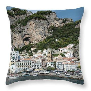 Amalfi Port Throw Pillow