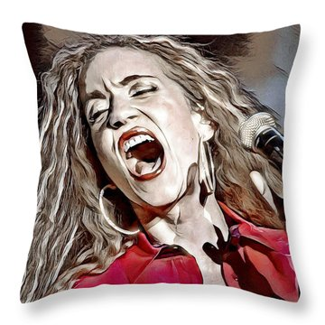 Throw Pillow featuring the digital art Amanda Marshall by Pennie McCracken