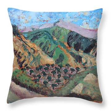 Amanda's Canigou Throw Pillow
