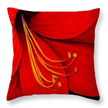 Amaryllis 2 Throw Pillow