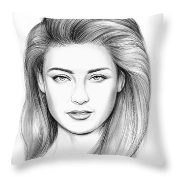 Amber Heard Throw Pillow