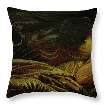 Amber Light Throw Pillow