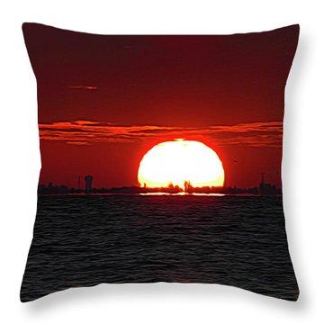 Amber Sky Throw Pillow