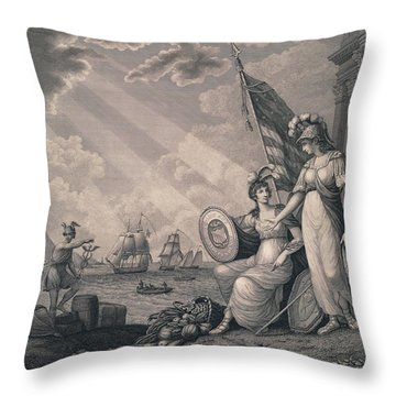 America Guided By Wisdom Throw Pillow