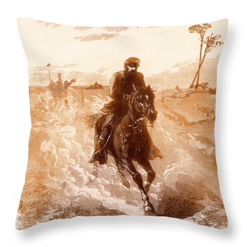 American Civil War Union General Philip Sheridan Rides To The Front Throw Pillow