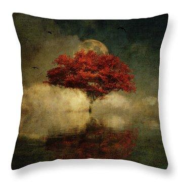 Throw Pillow featuring the digital art American Oak In A Dream by Jan Keteleer