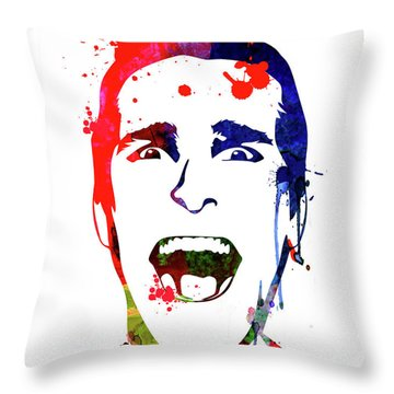 American Psycho Watercolor Throw Pillow