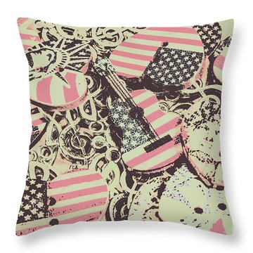 Americana Audio Throw Pillow