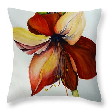 Amerylis/amaryllis  Throw Pillow