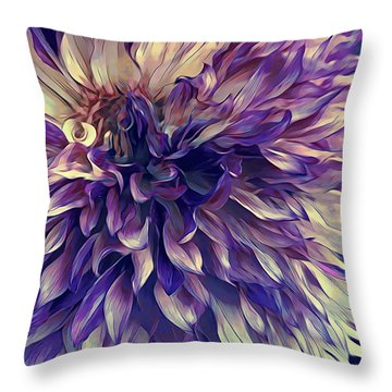 Amethyst Bloom Throw Pillow