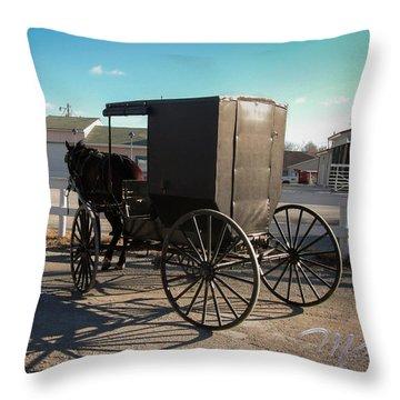 Amish Transportation Throw Pillow