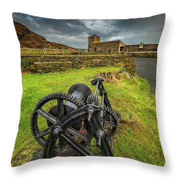 Amlwch Harbour Anglesey Throw Pillow