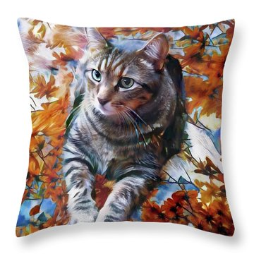 Amos In Flowers Throw Pillow
