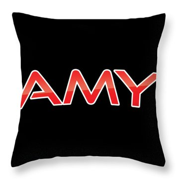 Throw Pillow featuring the digital art Amy by TintoDesigns