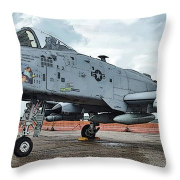 Amy's Warthog Throw Pillow