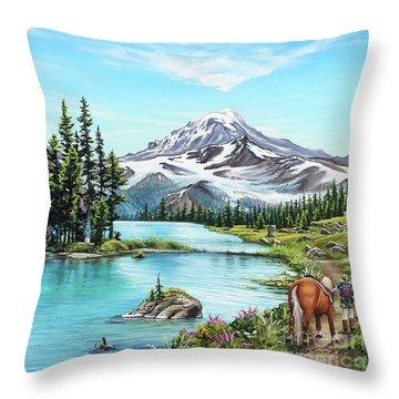 An Afternoon Adventure Throw Pillow
