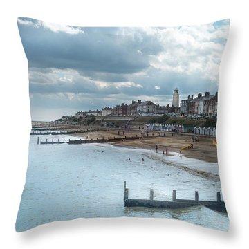 An English Beach Throw Pillow