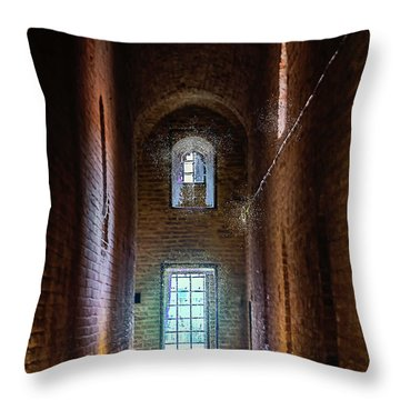 An Entrance To The Casemates Of The Medieval Castle Throw Pillow