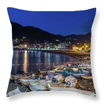An Evening In Levanto Throw Pillow