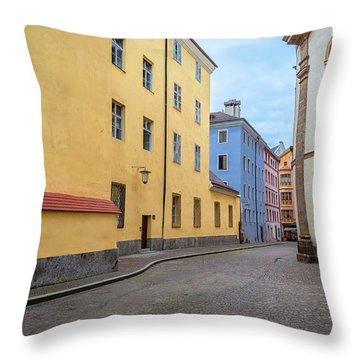 An Innsbruck Street Throw Pillow