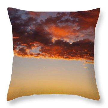 An Oklahoma Sunsrise Throw Pillow
