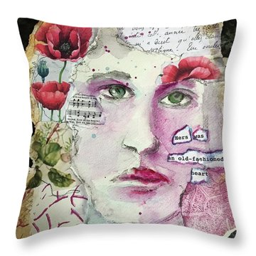 An Old-fashioned Heart Throw Pillow