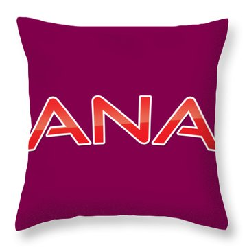 Throw Pillow featuring the digital art Ana by TintoDesigns