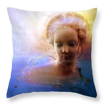 Anachronic Circles Throw Pillow
