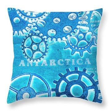 Ancient Antarctic Technology Throw Pillow