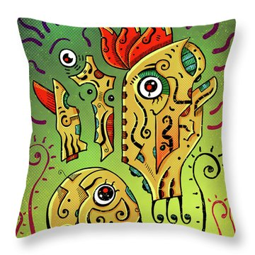 Throw Pillow featuring the digital art Ancient Spirit by Sotuland Art