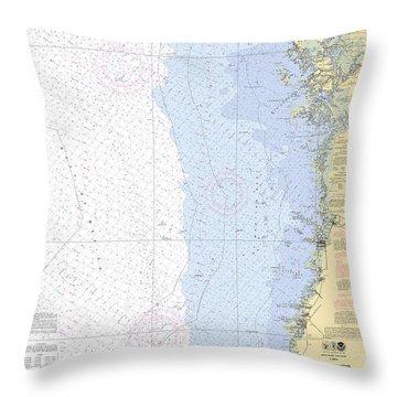 Anclote Keys To Crystal River Noaa Nautical Chart 11409 Throw Pillow