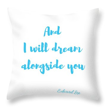 Throw Pillow featuring the digital art And I Will Dream by Edward Lee