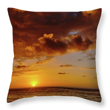 And Then The Sun Set Throw Pillow