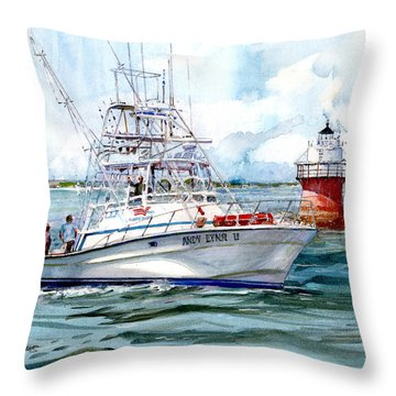 Andy Lynn II As She Passes The Bug Throw Pillow