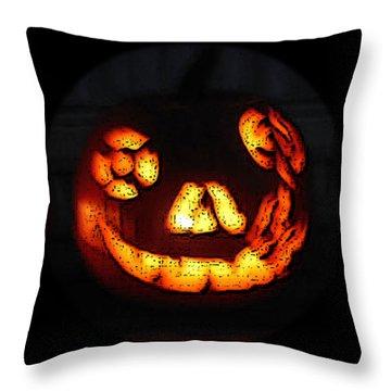 Andy's Jack O Lantern Throw Pillow