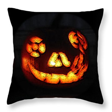 Andy's Jack O Lantern Throw Pillow
