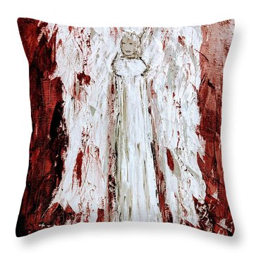 Angel Against Violence Throw Pillow
