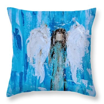 Angel Among Angels Throw Pillow