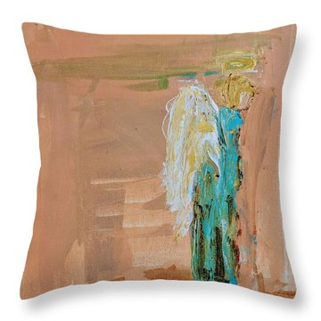 Angel Boy In Time Out  Throw Pillow