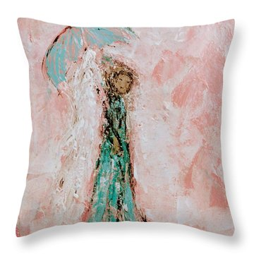 Angel By Your Side Throw Pillow