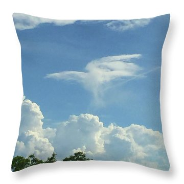 Angel Cloud Appears  Throw Pillow