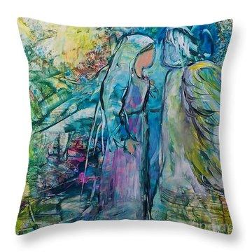 Angel Encounter Throw Pillow