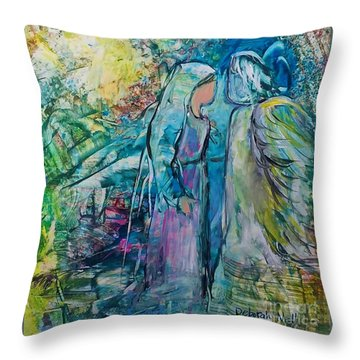 Angel Encounter Throw Pillow