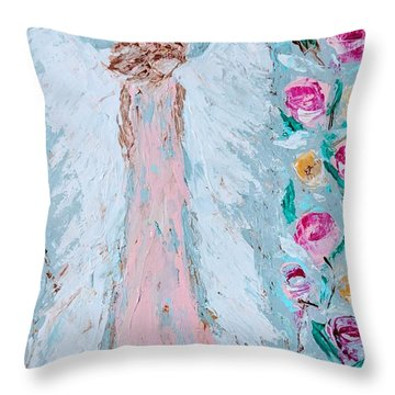 Angel For Childbirth And Throw Pillow